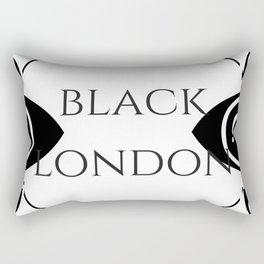 Black London Rectangular Pillow
