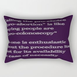 Not Pro-Colonoscopy Rectangular Pillow