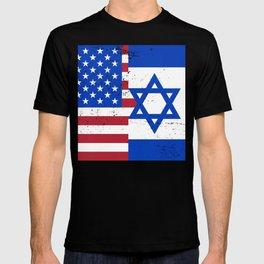 USA & Israel Flags T-shirt
