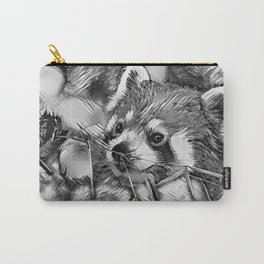 AnimalArtBW_RedPanda_20170702_by_JAMColorsSpecial Carry-All Pouch