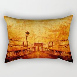 Brooklyn Burning Rectangular Pillow