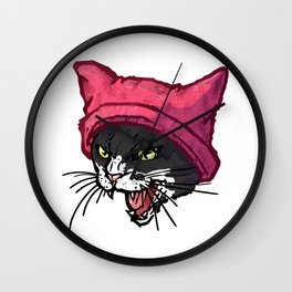 The Cat in the Hat (Black&White) Wall Clock