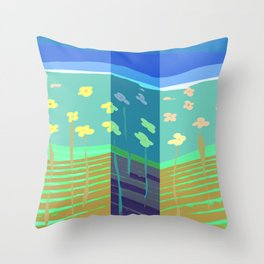 Dont Stop My Spring Throw Pillow