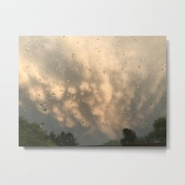 Stormy Clouds - Mammatus Metal Print