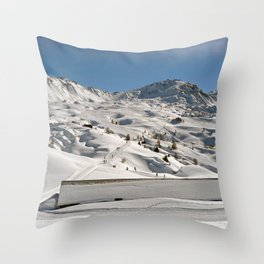 La Plagne Paradiski Ski French Alps France Throw Pillow