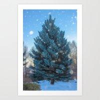 christmas tree Art Prints featuring Christmas tree  by Svetlana Korneliuk