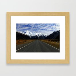Road to Mount Cook Framed Art Print