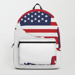 USA American Flag Golf Dad Father's Day Gift Backpack