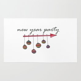 New year party Rug