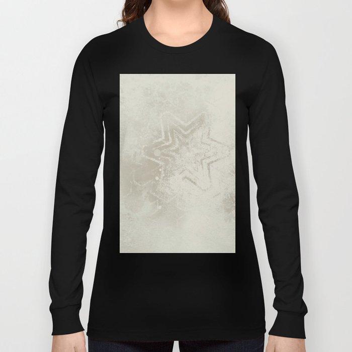 Delicate ivory star mandala Long Sleeve T-shirt
