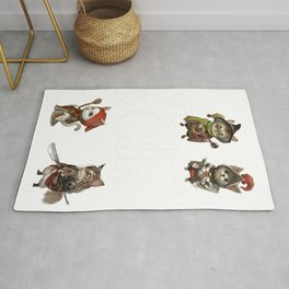 Cats in Dungeons Gift for RPG Gamers and Kitty Fans  Print Rug