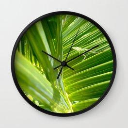 green gecko Wall Clock