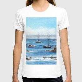 Boats Bobbing on Belfast Bay T-shirt