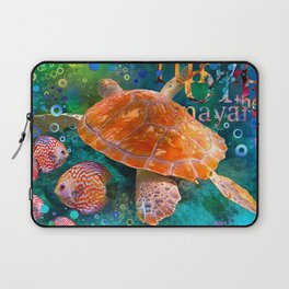 Sea Turtle in Swiming Laptop Sleeve