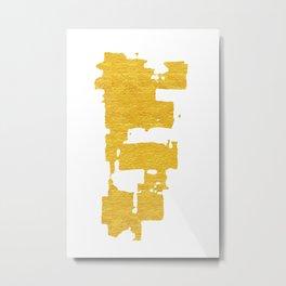 Gold Abstract VI Metal Print