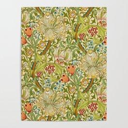 William Morris Golden Lily Vintage Pre-Raphaelite Floral Art Poster