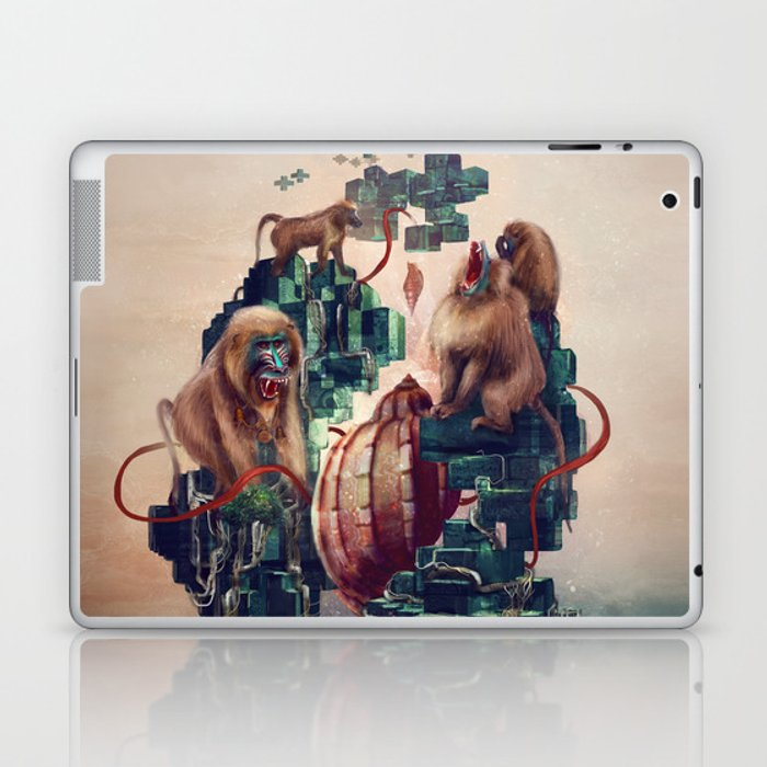 monkey temple Laptop & iPad Skin