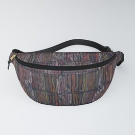 Colored Weathered Wood Board Fanny Pack