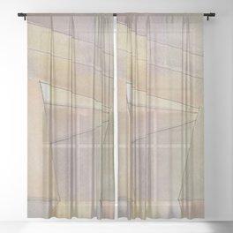 Line Wash Terra Cotta Sheer Curtain