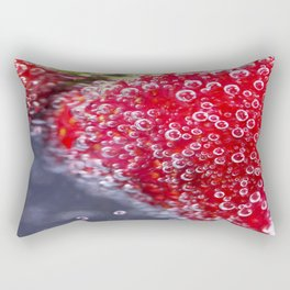 Bubbly Strawberries Rectangular Pillow