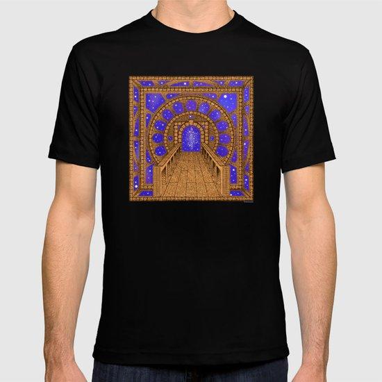 orvio illuminated space mandala T-shirt