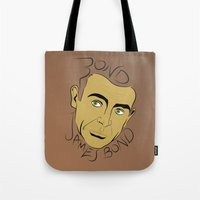 james bond Tote Bags featuring Bond, James Bond by FSDisseny