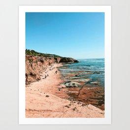 Low Tides at Ladera Art Print