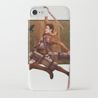 attack on titan iPhone & iPod Cases featuring Haikyuu!! Attack on Titan Crossover: Nishinoya by JBadgr