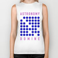 astronomy Biker Tanks featuring ASTRONOMY DOMINE by Fab&Sab
