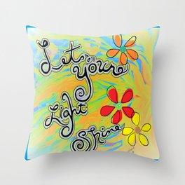 Let Your Light Shine Matthew 5:16 Throw Pillow