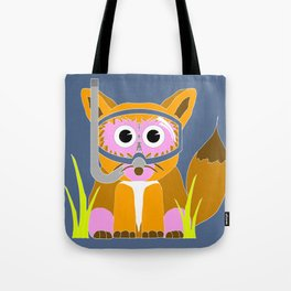 Pink Snorkel Fox Tote Bag