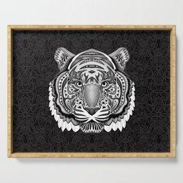 Tiger face aztec pattern Serving Tray