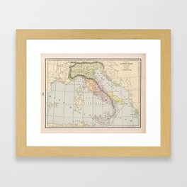 Ancient Italy Map 800 - 222 BC (1901) Framed Art Print