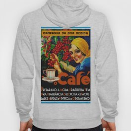 Vintage Brazil Coffee Ad Hoody