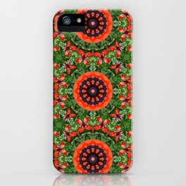 Floral mandala-style, Poppies 006.6 iPhone Case