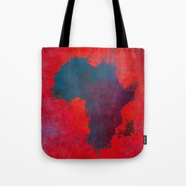 Africa map 3D red blue #africa #map Tote Bag