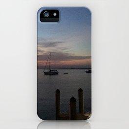 Dock Sunset iPhone Case