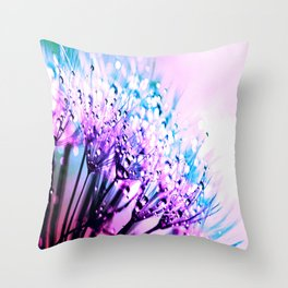 Bubblegum Candy Dandelion Dew Throw Pillow