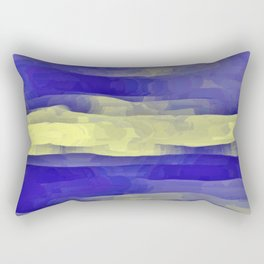 Sun Rays, Wind and Cobalt Sky Abstract Rectangular Pillow