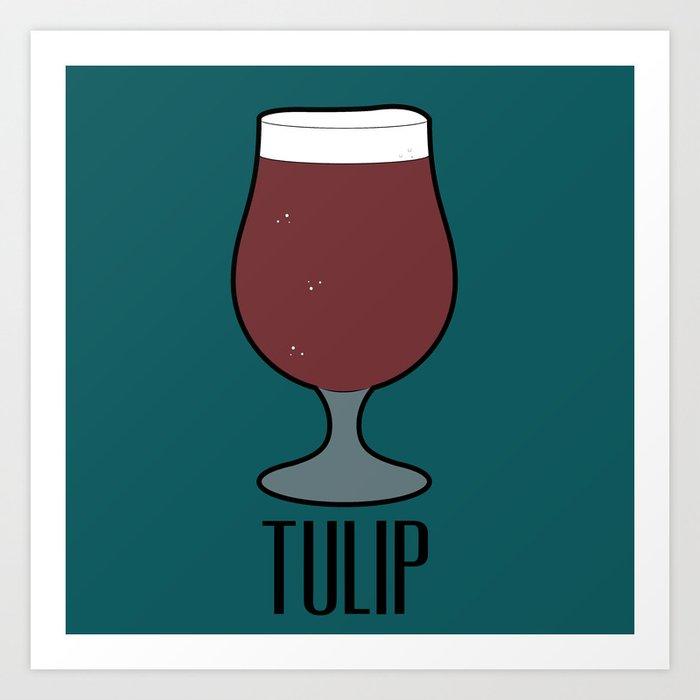 Beer Glass (Tulip) Art Print