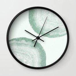 mint agate Wall Clock