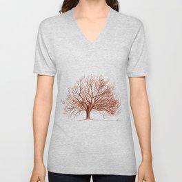 Lonely tree in autumn Unisex V-Neck