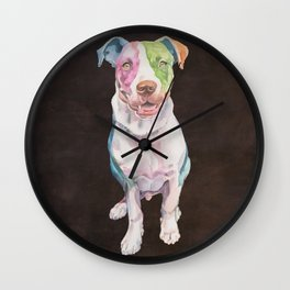 American Bull Terrier Wall Clock