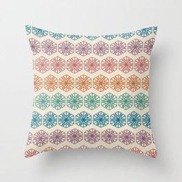 Retro Kaleidoscope Throw Pillow