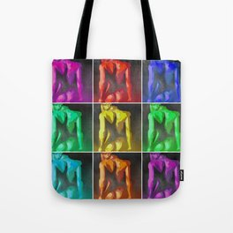 Nine Nudes Pop Art Collage Tote Bag