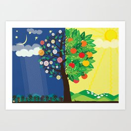 """Seasons"" Spring-Summer Art Print"