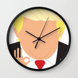 Faceless Trump Wall Clock