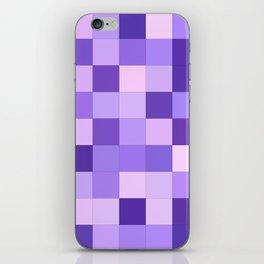Pastel purple squares iPhone Skin