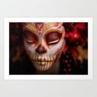 Crimson Harvest Muertita Detail Art Print