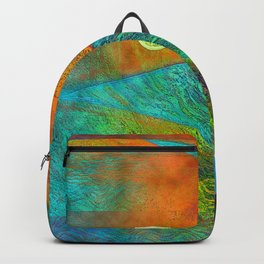 Colorful Mermaid Tail Horizontal Backpack